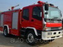 捷达消防牌SJD5141GXFPM50/W型泡沫消防车
