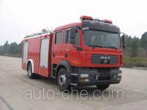 捷达消防牌SJD5160GXFPM50M型泡沫消防车