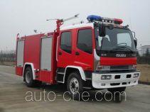 苏捷牌SJD5160GXFPM60W型泡沫消防车