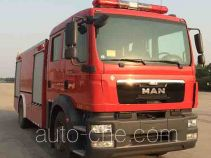 捷达消防牌SJD5161GXFPM50/MEA型泡沫消防车