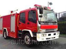 捷达消防牌SJD5161GXFPM60/WSA型泡沫消防车