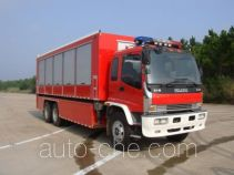 捷达消防牌SJD5180TXFZX100W1/2型自装卸式消防车