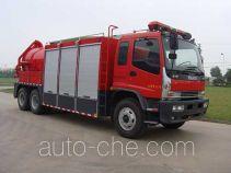 捷达消防牌SJD5220TXFHX30W型化学洗消消防车