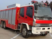 捷达消防牌SJD5221TXFHX60/W型化学洗消消防车