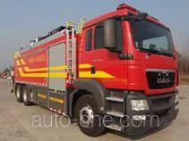 捷达消防牌SJD5230TXFBP200/MEA型泵浦消防车