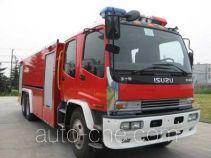 捷达消防牌SJD5250GXFPM120W型泡沫消防车