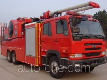 捷达消防牌SJD5260TXFBP400/U型泵浦消防车