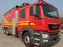 捷达消防牌SJD5270TXFBP200/MEA型泵浦消防车