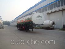 Shengrun SKW9400GRY flammable liquid aluminum tank trailer
