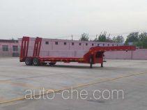 梁威牌SLH9350TDP型低平板半挂车