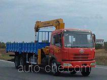醒狮牌SLS5250JSQC型随车起重运输车