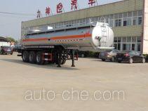 醒狮牌SLS9409GFWA型腐蚀性物品罐式运输半挂车