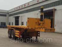 Liangyun SLY9350ZZXP flatbed dump trailer