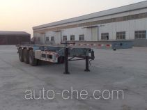 Liangyun SLY9381TWYE dangerous goods tank container skeletal trailer