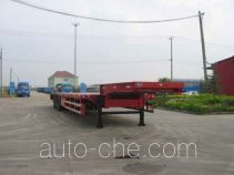 Low flatbed gooseneck trailer