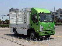 陕汽牌SX5040CCYBEV6型纯电动仓栅式运输车