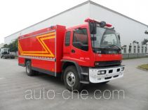 Gas fire engine