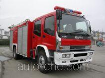川消牌SXF5160GXFPM55W型泡沫消防车
