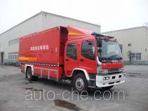 川消牌SXF5160TXFZX70W型自装卸式消防车