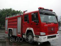 川消牌SXF5190GXFPM70HW型泡沫消防车