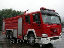 川消牌SXF5250GXFPM100HW型泡沫消防车