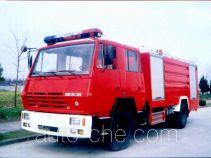 鸡球牌SZX5160GXFPM55型泡沫消防车