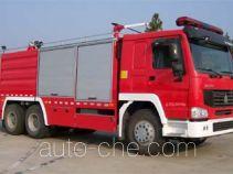鸡球牌SZX5270TXFGL100型干粉-水联用消防车