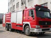 Foam powder combined fire engine