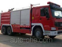 鸡球牌SZX5270TXFGP100型干粉-泡沫联用消防车