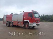 鸡球牌SZX5271TXFGP100/ZZ型干粉泡沫联用消防车
