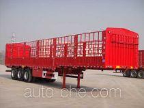 智慧树牌TDZ9403CCY型仓栅式运输半挂车