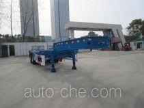 CIMC Tonghua THT9355TWYA dangerous goods tank container skeletal trailer
