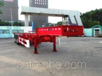 CIMC Tonghua THT9400TWYA dangerous goods tank container skeletal trailer
