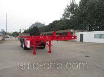 CIMC Tonghua THT9401TWYA dangerous goods tank container skeletal trailer