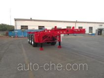 CIMC Tonghua THT9403TWYA dangerous goods tank container skeletal trailer