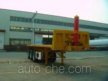 通华牌THT9405ZZXP型平板自卸半挂车