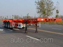 天骏德锦牌TJV9370TJZF型集装箱运输半挂车