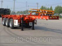 Tianjun Dejin TJV9400TWYG dangerous goods tank container skeletal trailer