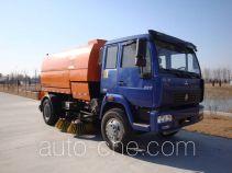 Huahuan TSW5160TSL street sweeper truck with rear roller