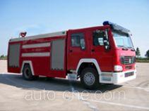 Yunhe WHG5190GXFSG80W fire tank truck