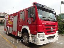 Yunhe WHG5192GXFSG80 fire tank truck