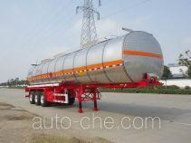 瑞江牌WL9404GRYD型铝合金易燃液体罐式运输半挂车