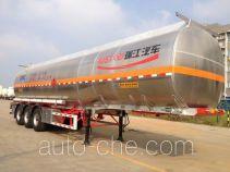瑞江牌WL9405GRYD型铝合金易燃液体罐式运输半挂车