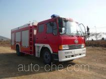 万水牌WS5140GXFPM50型泡沫消防车