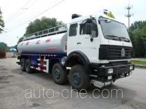 Insulated oil tank truck