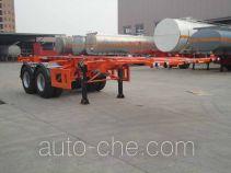Xingyang XYZ9350TWY dangerous goods tank container skeletal trailer