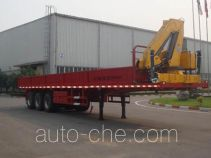 XCMG XZJ9400JSQ flatbed trailer mounted loader crane