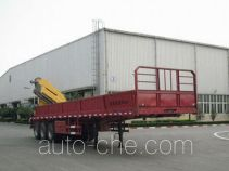 XCMG XZJ9402JSQ flatbed trailer mounted loader crane