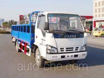 Yueda trash containers transport double deck truck