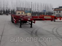 Yuandong Auto YDA9402TWY dangerous goods tank container skeletal trailer